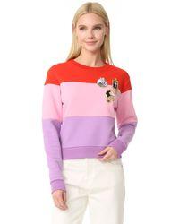 Carven - Striped Sweatshirt - Lyst