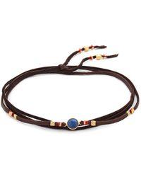Chan Luu - Sapphire Leather Choker Necklace - Lyst