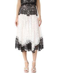Costarellos - High Waist Contrast Skirt - Lyst