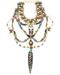 Erickson Beamon - Imitation Pearl Safari Bib Necklace - Lyst