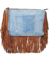En Shalla - Denim Clutch - Lyst