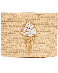 Hat Attack - Embroidered Clutch - Lyst