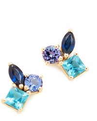 Holly Dyment - Cluster Earrings With Tanzanite, Blue Topaz & Sapphire - Lyst