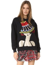 Holly Fulton - Embroidered Oversized Sweatshirt - Lyst