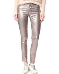 INTROPIA   Metallic Jeans   Lyst