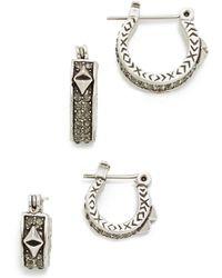 House of Harlow 1960 - Dakota Huggie Earring Set - Lyst