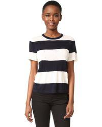 Jenni Kayne - Rugby Stripe Crop T-shirt - Lyst