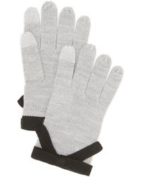 Kate Spade - Contrast Bow Texting Gloves - Lyst