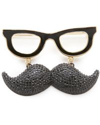 Kate Spade - Dress The Part Mustache Brooch - Lyst