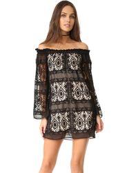 Liv - Mantilla Off The Shoulder Dress - Lyst