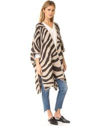 Mara Hoffman - Zebra Sweater Cape - Lyst