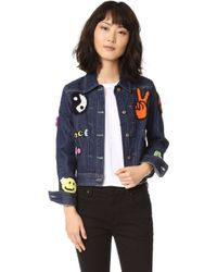Michaela Buerger - Just Smile Denim Jacket - Lyst