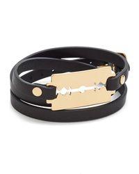 McQ - Razor Triple Wrap Bracelet - Lyst