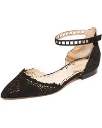 Marchesa - Evie Flats With Ankle Strap - Lyst