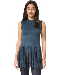 Re:named - Tassel Sleeveless Sweater - Lyst