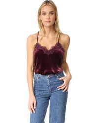 One By - Velvet Racer Camisole - Lyst