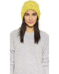 1717 Olive | Cuffed Pom Beanie Hat | Lyst