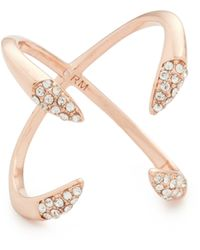 Rebecca Minkoff - Pave Claw Ring - Lyst