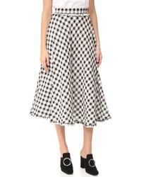 Rossella Jardini - Gingham Flared Skirt - Lyst