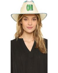 Sara Designs - Patch Hat - Lyst