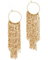 Serefina - Long Fringe Hoop Earrings - Lyst
