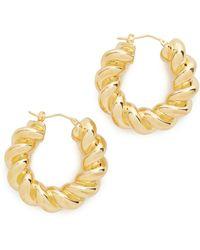 Soave Oro - Torchon Hoop Earrings - Lyst