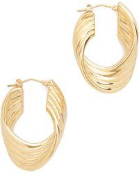 Soave Oro - Polished Twisted Hoop Earrings - Lyst
