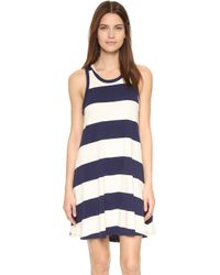 Sol Angeles - Rugby Stripe Flounce Dress - Lyst