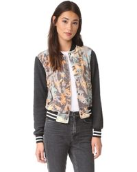 Sol Angeles - Camo Floral Bomber - Lyst