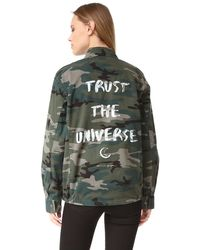 Spiritual Gangster - Trust The Universe Army Jacket - Lyst