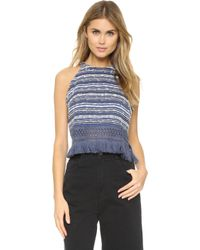 Timo Weiland - Sophie Fringed Halter Top - Lyst