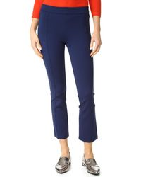 Tory Burch - Stacey Crop Flare Ponte Trousers - Lyst