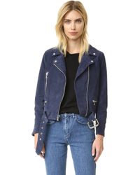 ThePerfext - Suede Moto Jacket - Lyst