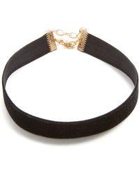 Vanessa Mooney - Velvet Choker Necklace - Lyst