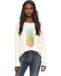Wildfox - Rainbow Pineapple Sunrise Shirt - Lyst