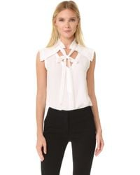Yigal Azrouël | Centre Front Tie Top | Lyst