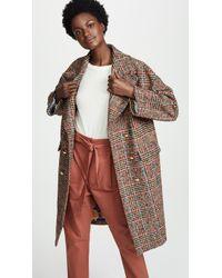 Stella Jean - Plaid Coat - Lyst