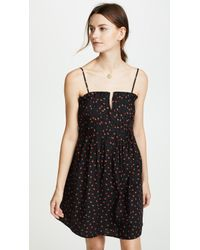 Madewell - Strawberries Pintuck Ruffle Cami Dress - Lyst