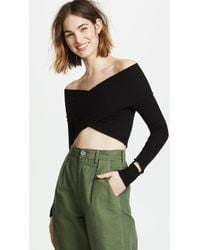 LNA - Aster Ribbed Crop Top - Lyst