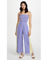 A Peace Treaty - Pirata Ruched Jumpsuit - Lyst