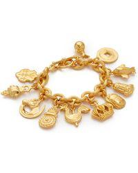 Ben-Amun - 11 Pendant Chain Bracelet - Lyst