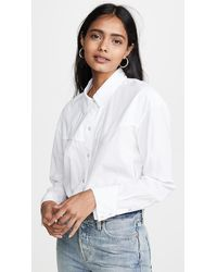James Perse Embroiderd Western Shirt - White