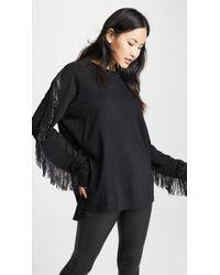 Baja East - Beaded Fringe Long Sleeve Shirt - Lyst