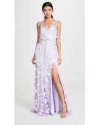 Marchesa notte - V Neck Embroidered Gown - Lyst