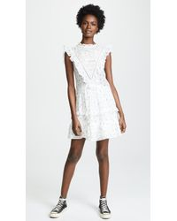 Rebecca Taylor - Sleeveless Sprig Floral Dress - Lyst