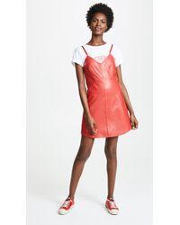 VEDA - Leather Slip Dress - Lyst