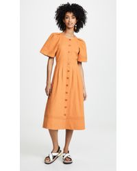 Sea - Izzy Puff Sleeve Dress - Lyst