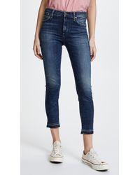 Citizens of Humanity - Rocket Crop High Rise Skinny Jeans - Lyst