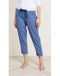 Splendid - Cropped Pj Trousers - Lyst