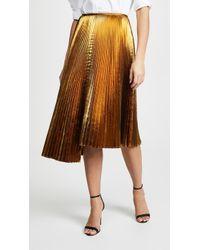 Cedric Charlier - Metallic Asymmetric Skirt - Lyst